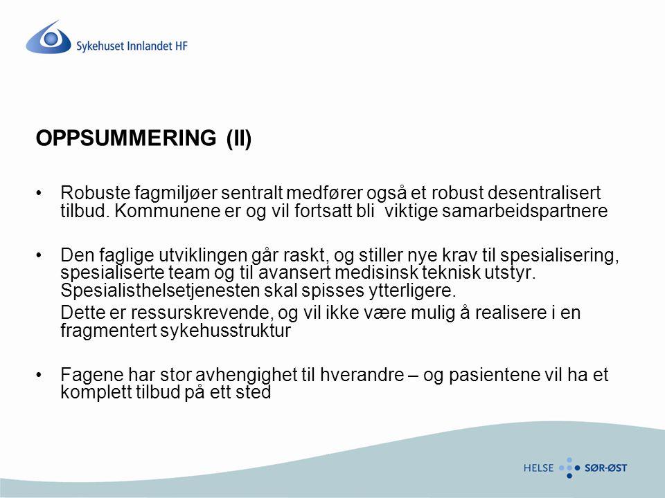 OPPSUMMERING (II)