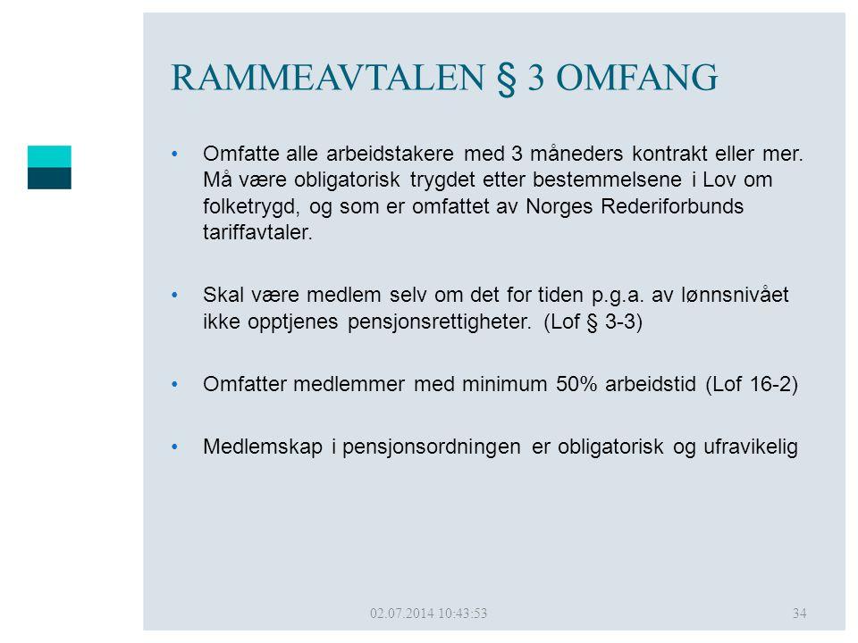 RAMMEAVTALEN § 3 OMFANG