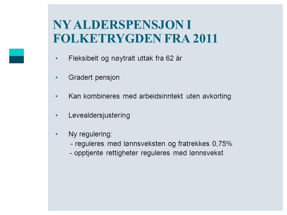 NY ALDERSPENSJON I FOLKETRYGDEN FRA 2011