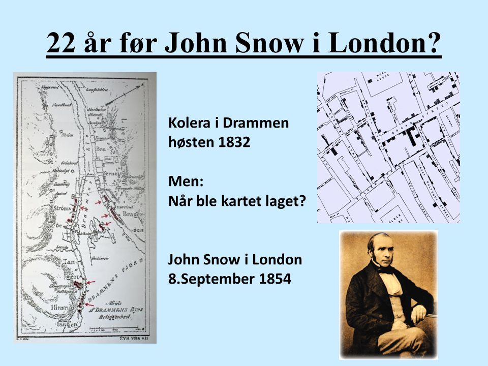 22 år før John Snow i London