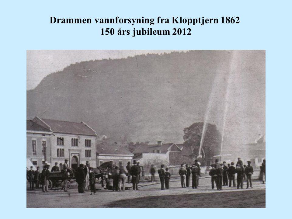 Drammen vannforsyning fra Klopptjern 1862