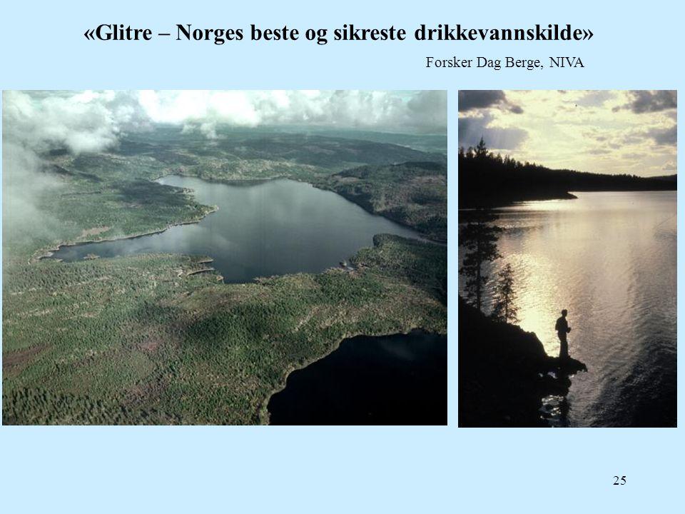 «Glitre – Norges beste og sikreste drikkevannskilde»