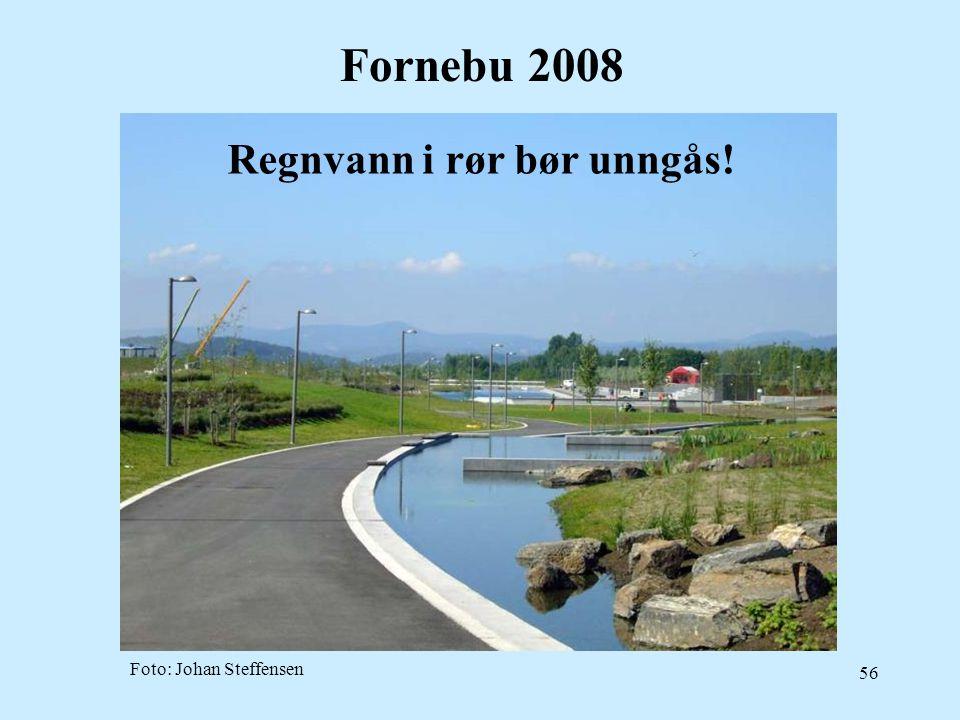 Fornebu 2008 Regnvann i rør bør unngås! Foto: Johan Steffensen