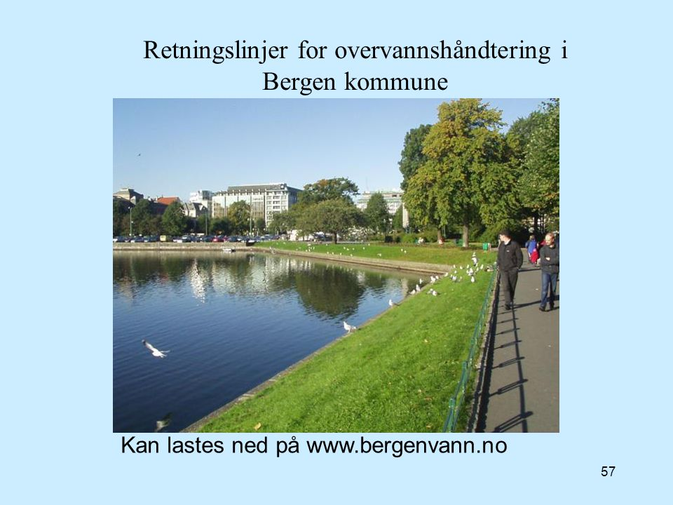 Retningslinjer for overvannshåndtering i Bergen kommune