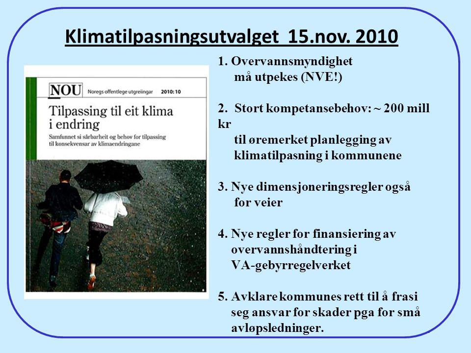 Klimatilpasningsutvalget 15.nov. 2010
