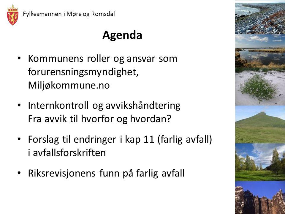 Agenda Kommunens roller og ansvar som forurensningsmyndighet, Miljøkommune.no.