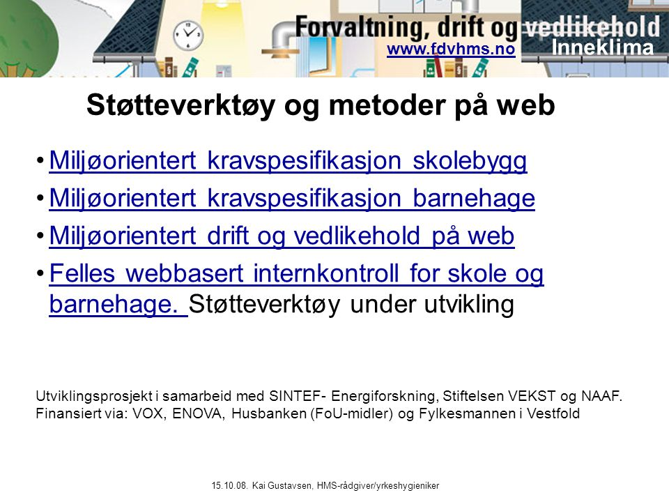 Støtteverktøy og metoder på web