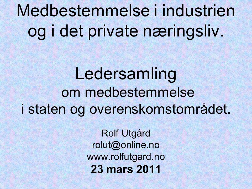Medbestemmelse i industrien og i det private næringsliv