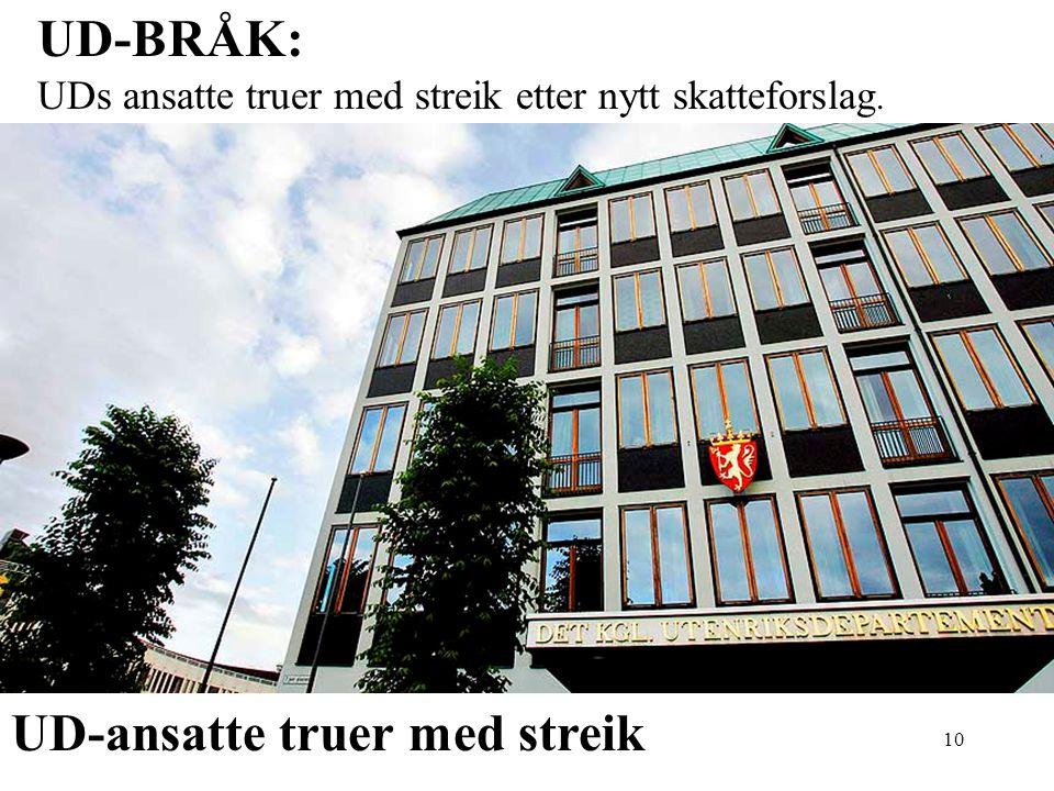 UD-ansatte truer med streik