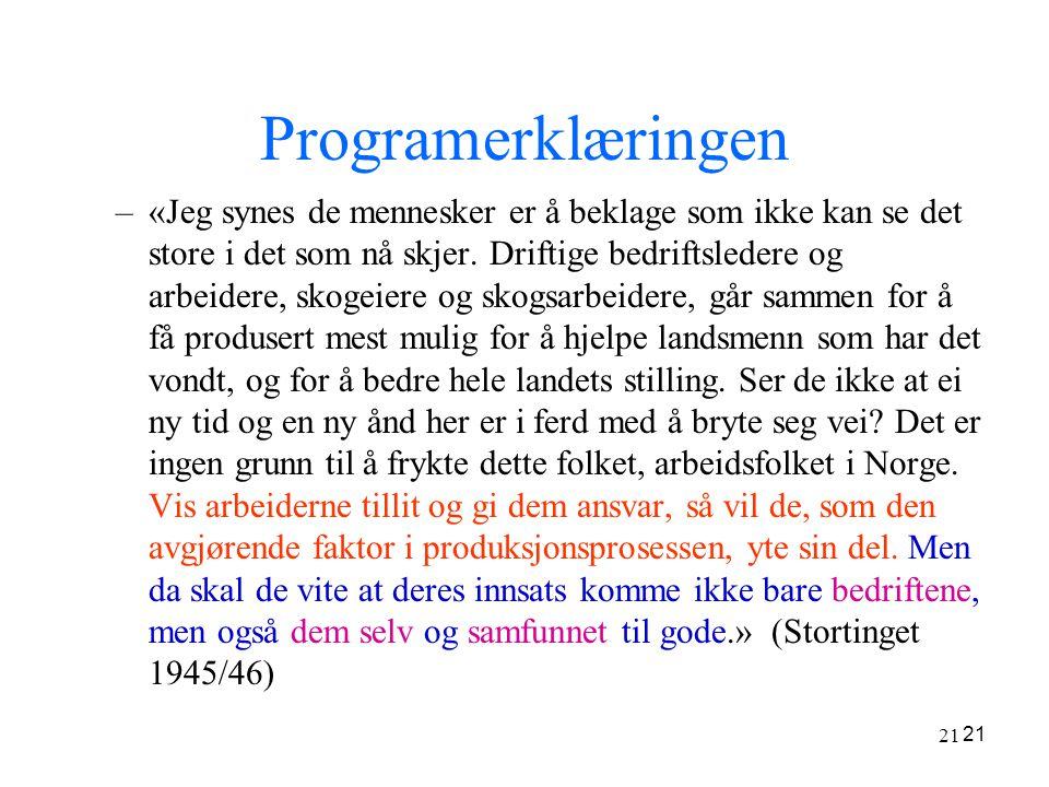 Programerklæringen