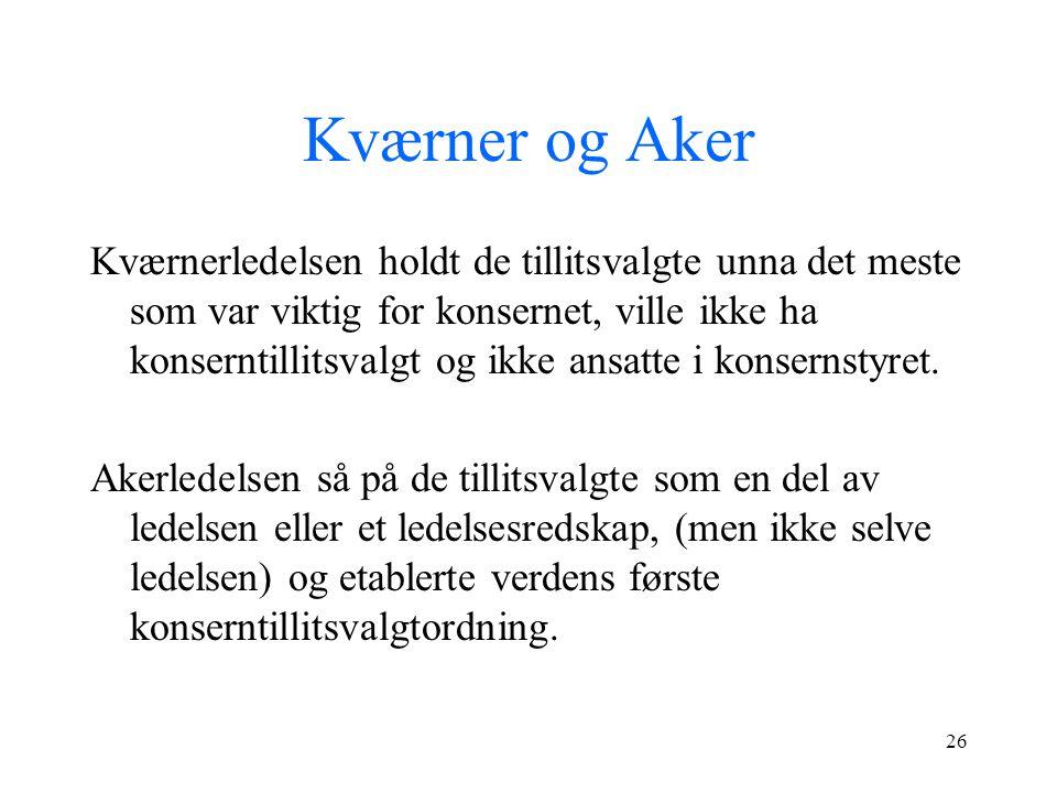 Kværner og Aker