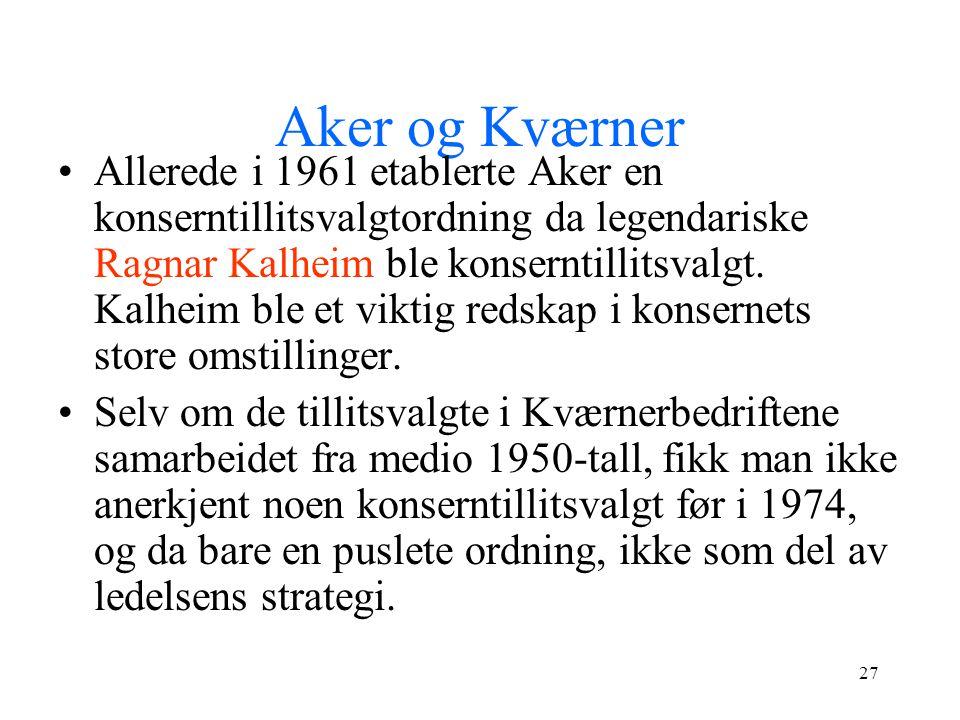 Aker og Kværner