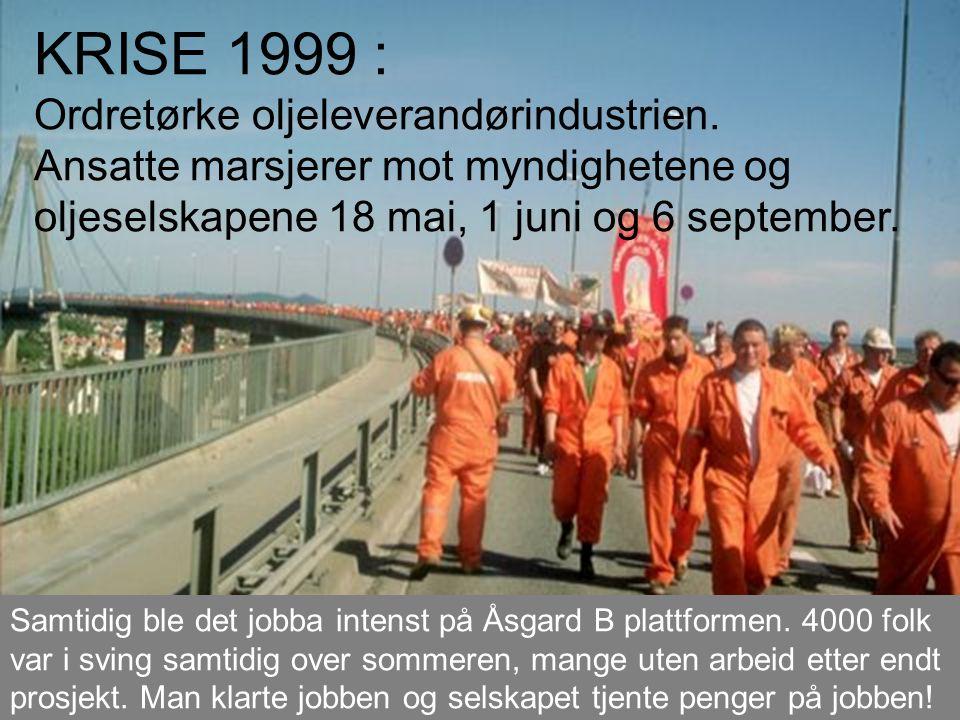 KRISE 1999 : Ordretørke oljeleverandørindustrien.