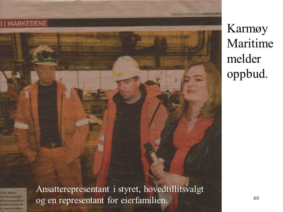 Karmøy Maritime melder oppbud.