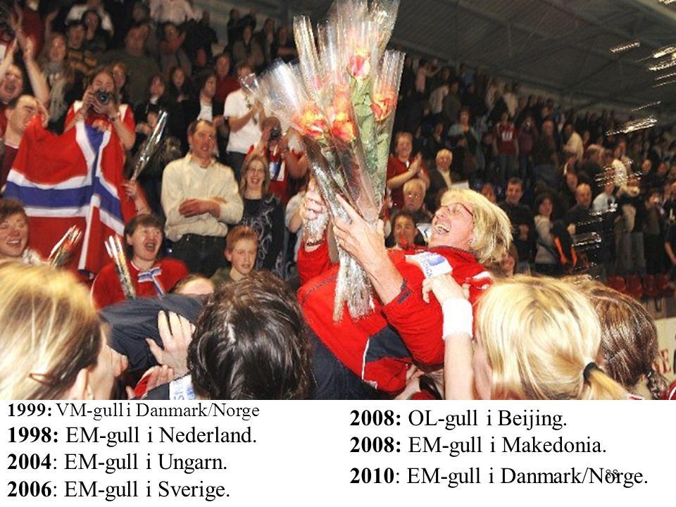 1999: VM-gull i Danmark/Norge 1998: EM-gull i Nederland