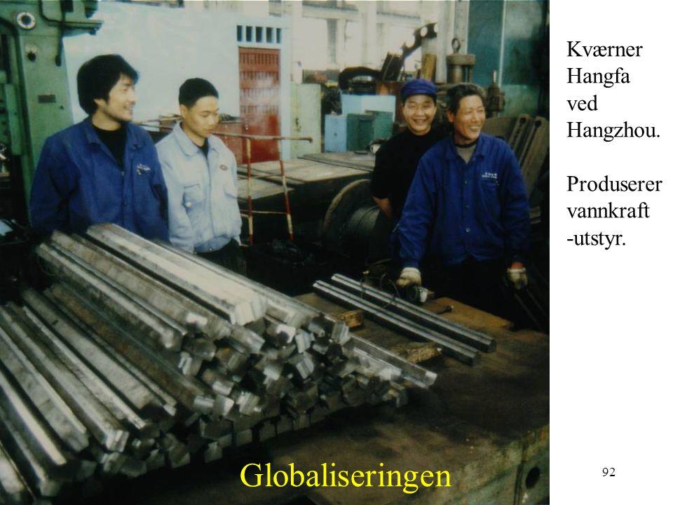 Globaliseringen Kværner Hangfa ved Hangzhou. Produserer vannkraft