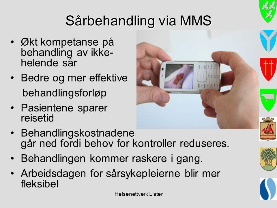 Sårbehandling via MMS Økt kompetanse på behandling av ikke- helende sår.