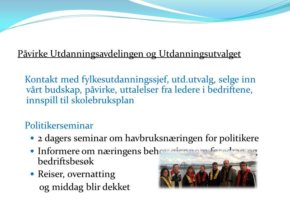 Påvirke Utdanningsavdelingen og Utdanningsutvalget