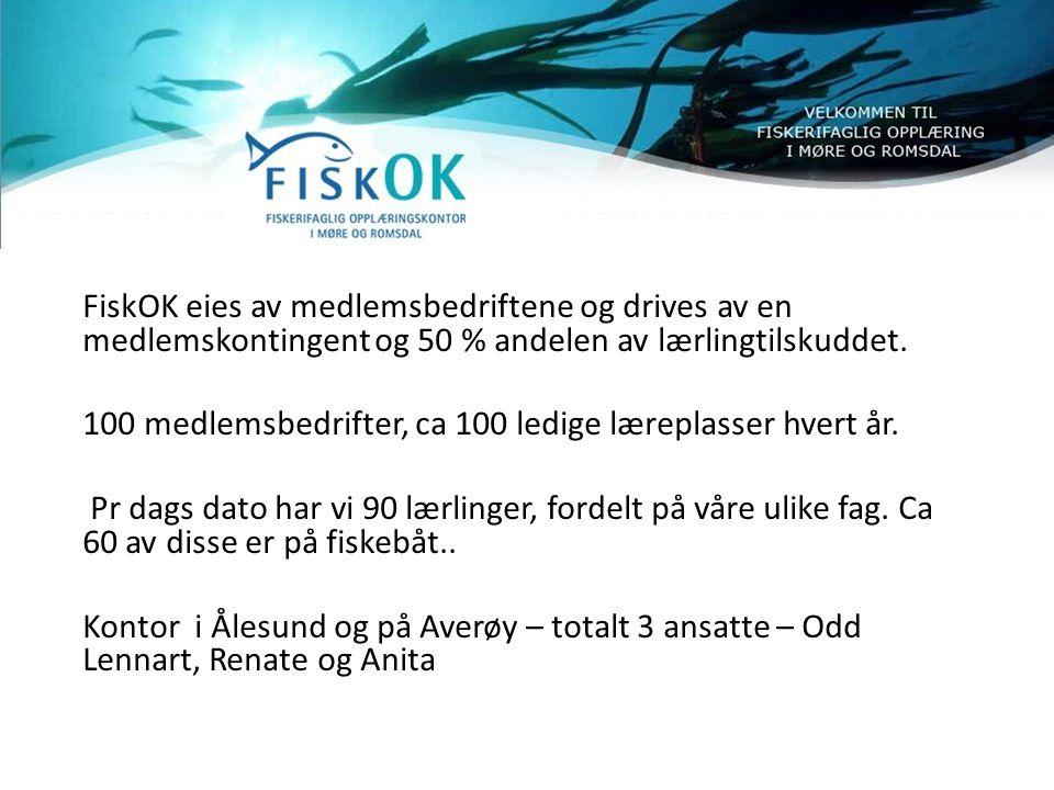 FiskOK eies av medlemsbedriftene og drives av en medlemskontingent og 50 % andelen av lærlingtilskuddet.