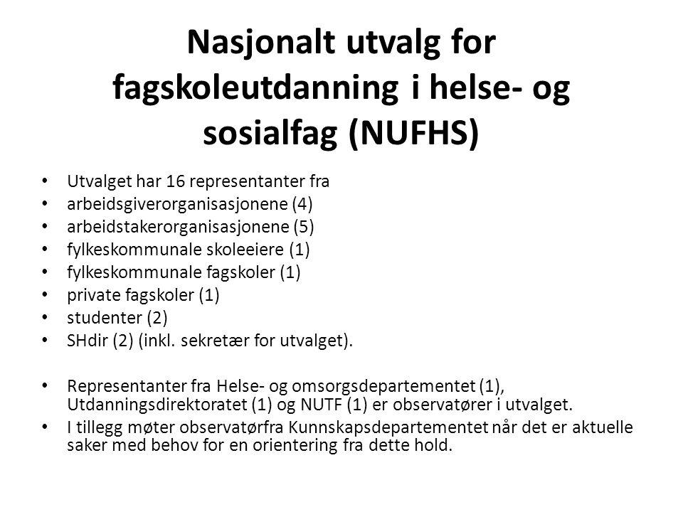 Nasjonalt utvalg for fagskoleutdanning i helse- og sosialfag (NUFHS)