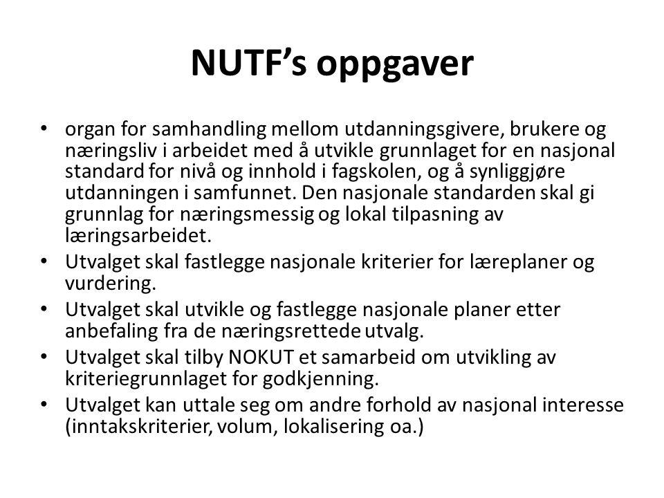NUTF's oppgaver