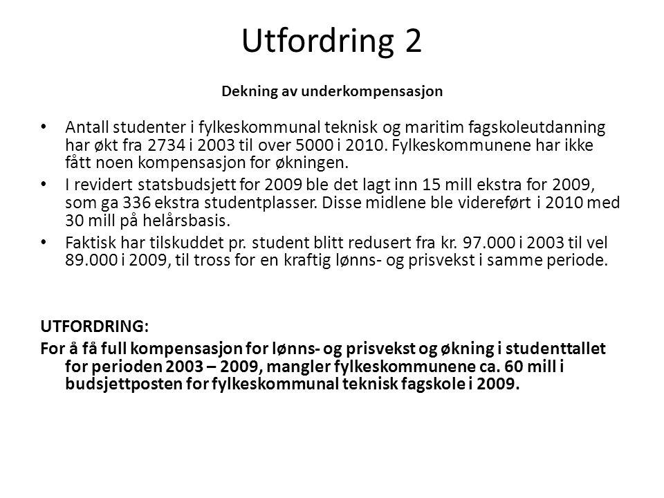 Utfordring 2 Dekning av underkompensasjon
