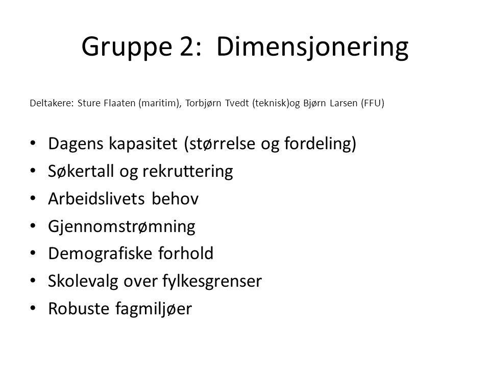 Gruppe 2: Dimensjonering