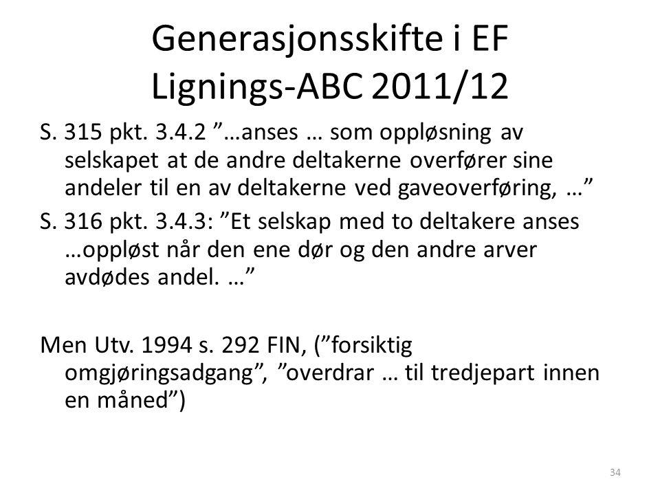 Generasjonsskifte i EF Lignings-ABC 2011/12