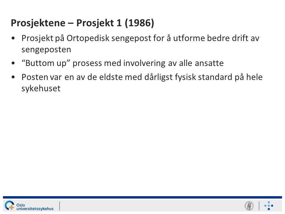 Prosjektene – Prosjekt 1 (1986)