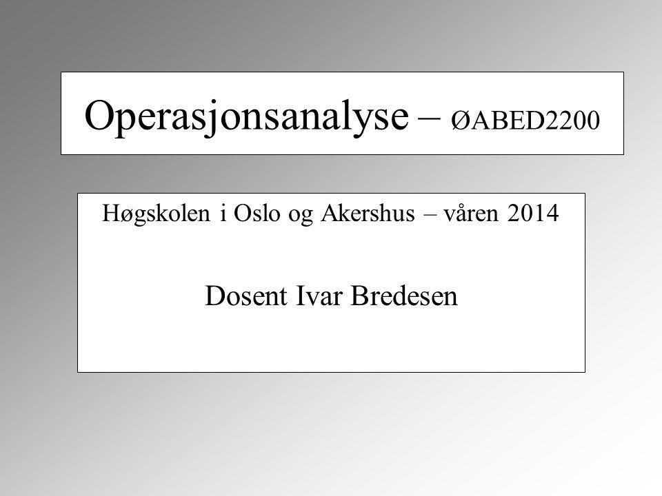 Operasjonsanalyse – ØABED2200