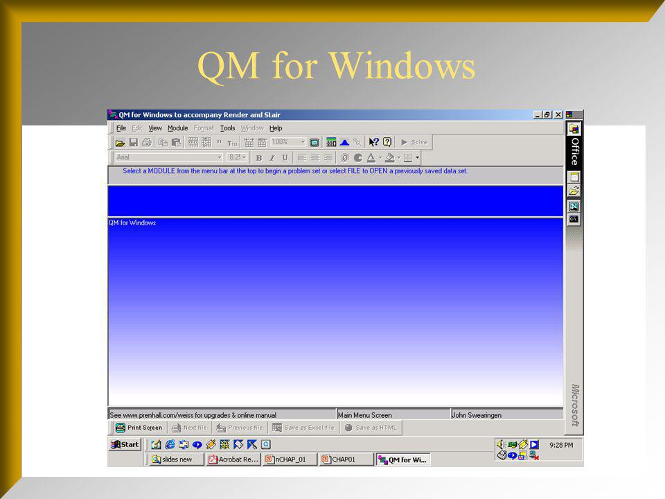 QM for Windows