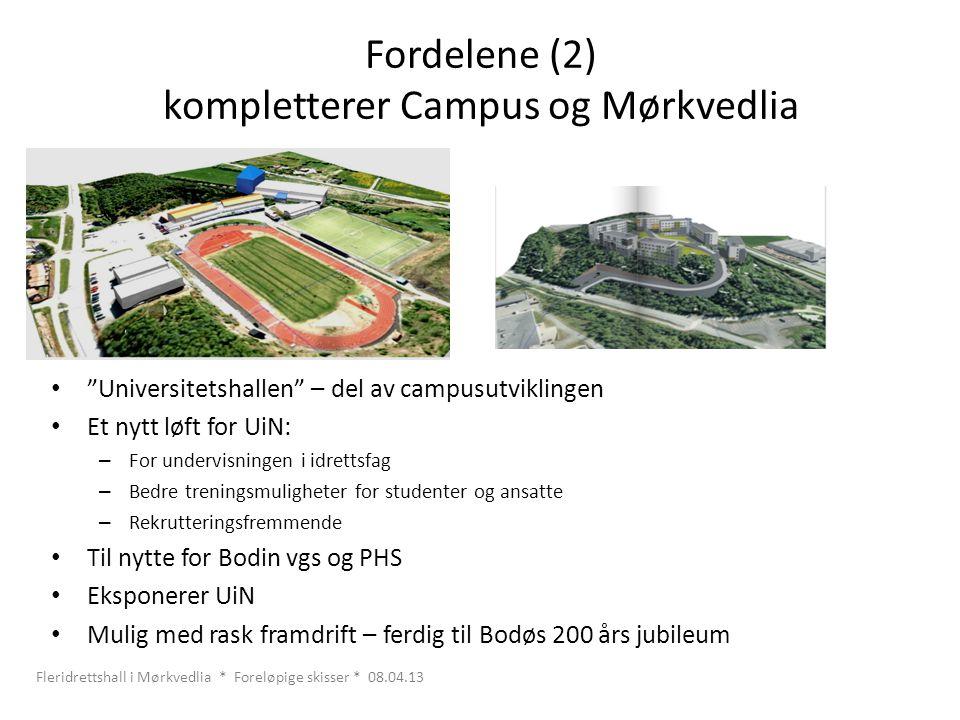 Fordelene (2) kompletterer Campus og Mørkvedlia