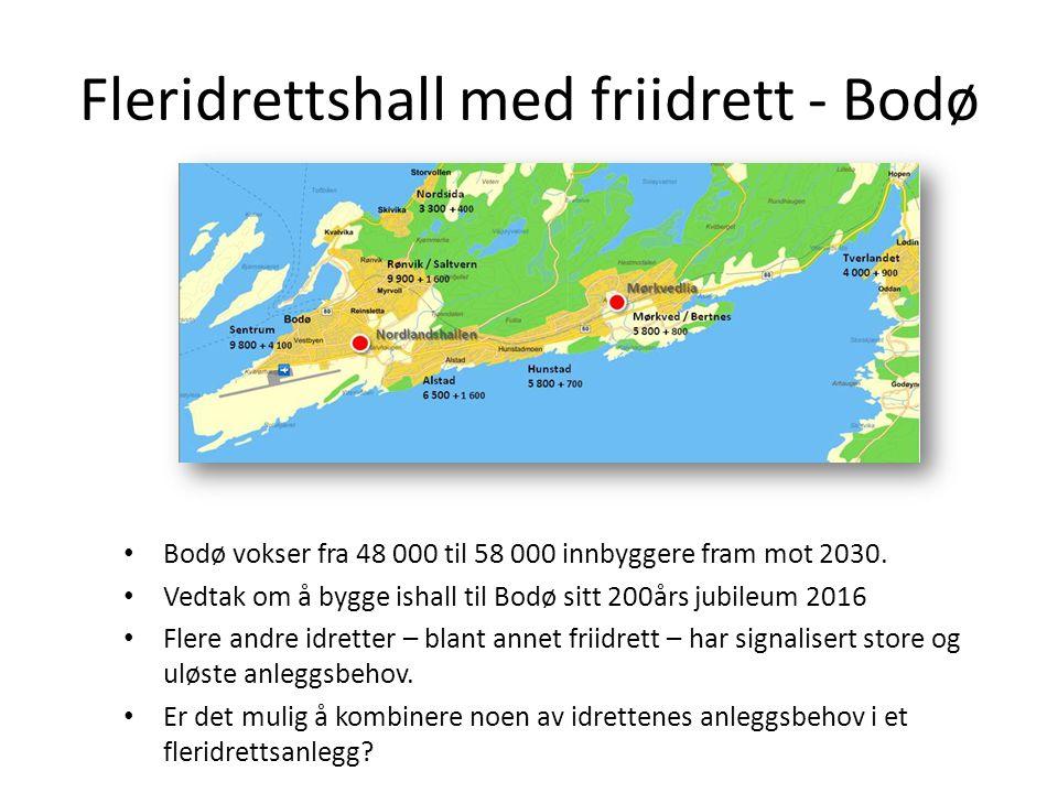 Fleridrettshall med friidrett - Bodø