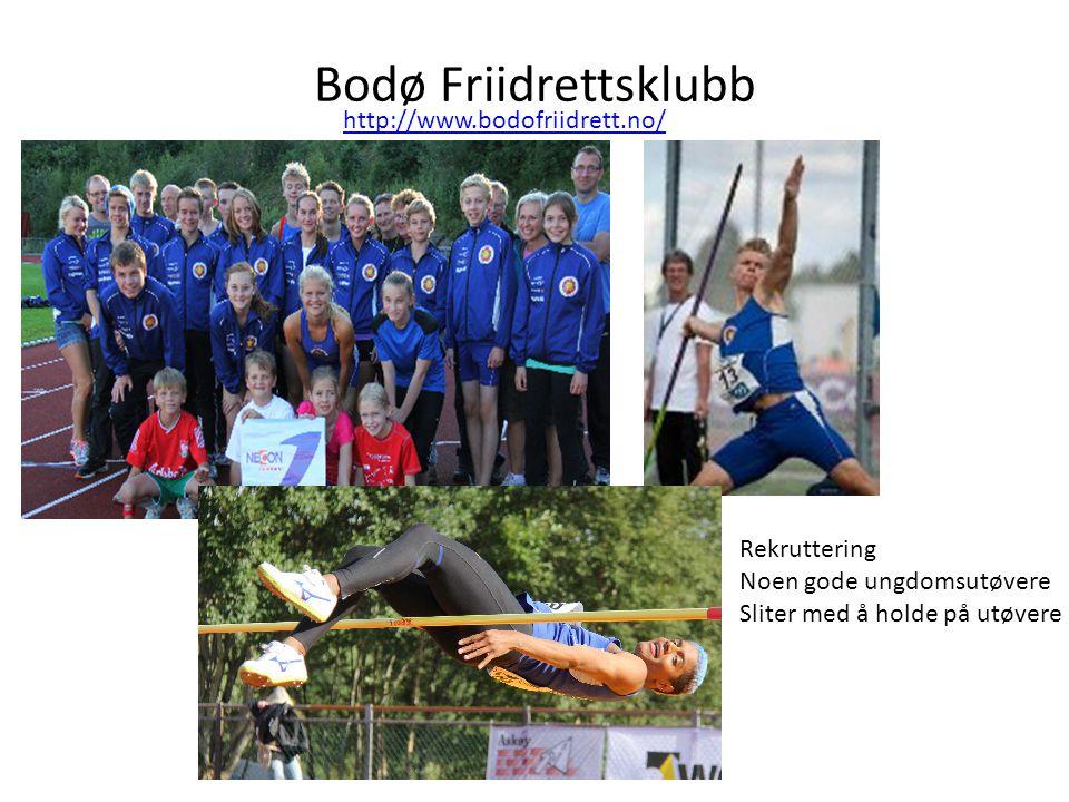 Bodø Friidrettsklubb http://www.bodofriidrett.no/ Rekruttering