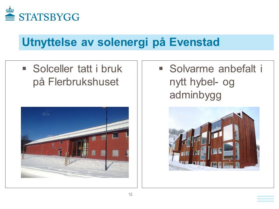 Utnyttelse av solenergi på Evenstad
