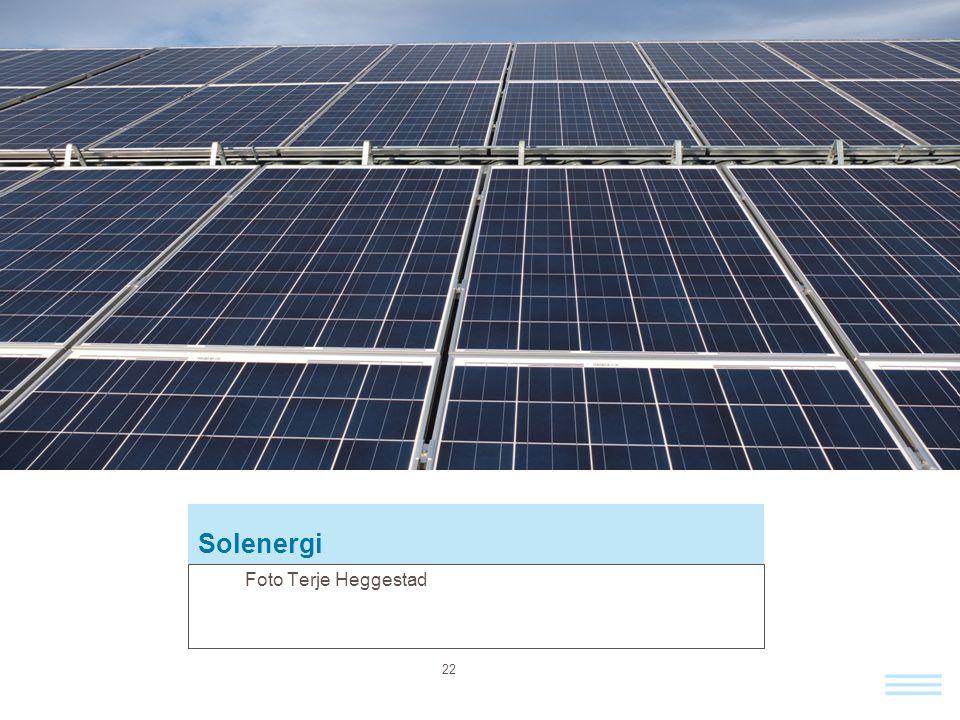 Solenergi Foto Terje Heggestad