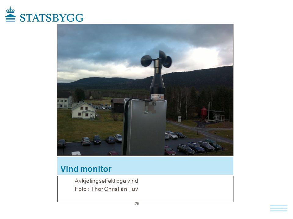 Vind monitor Avkjølingseffekt pga vind Foto : Thor Christian Tuv