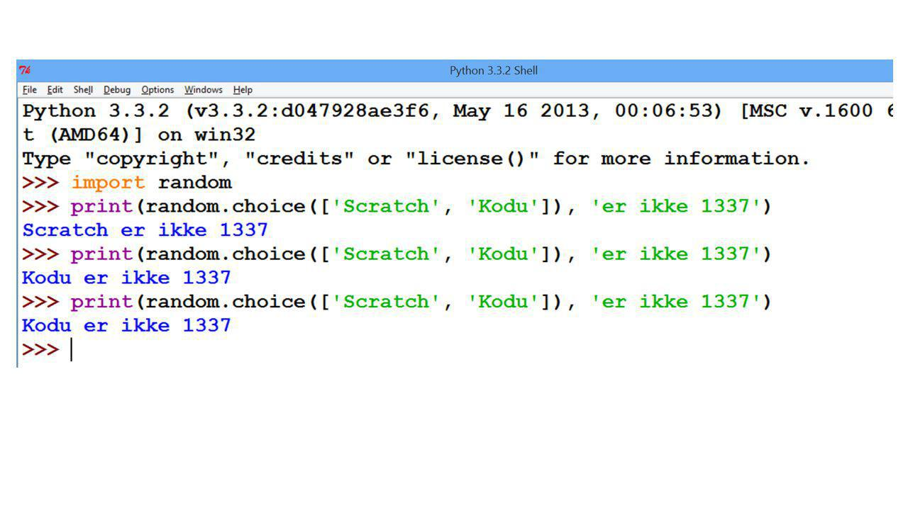 Python REPL Lett å starte med