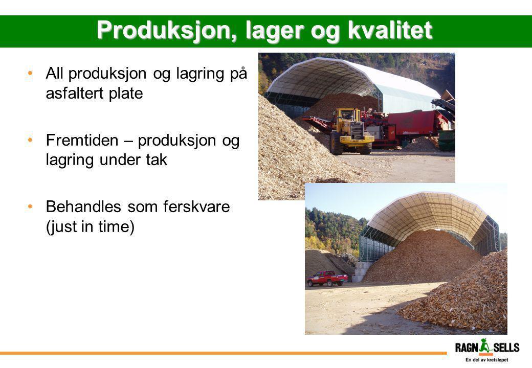 Produksjon, lager og kvalitet