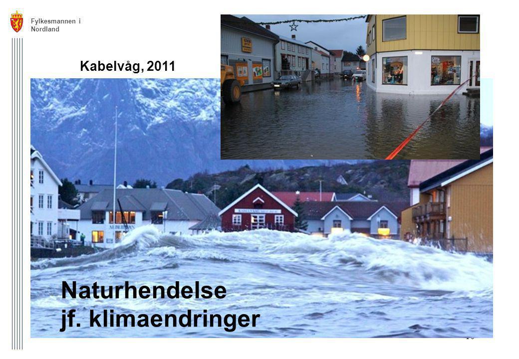 Naturhendelse jf. klimaendringer Kabelvåg, 2011 Fylkesmannen i