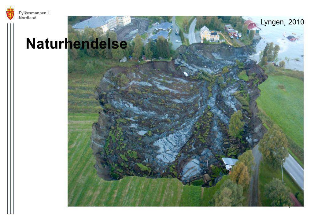 Fylkesmannen i Nordland Lyngen, 2010 Naturhendelse
