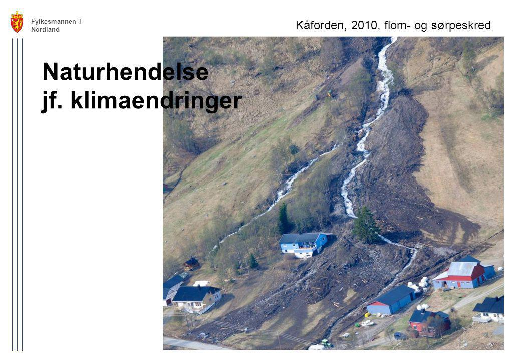 Naturhendelse jf. klimaendringer Kåforden, 2010, flom- og sørpeskred