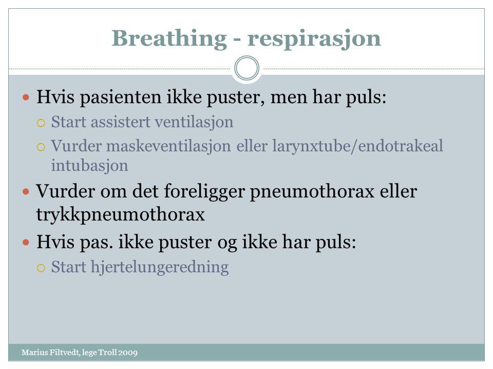 Breathing - respirasjon