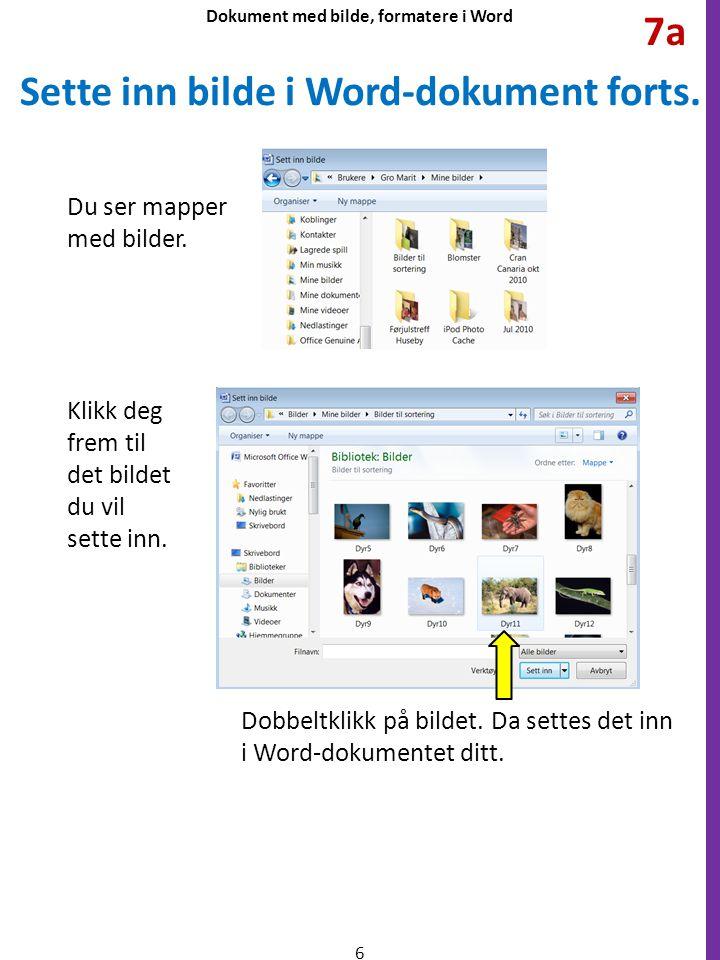 Sette inn bilde i Word-dokument forts.