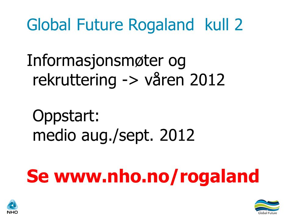 Global Future Rogaland kull 2