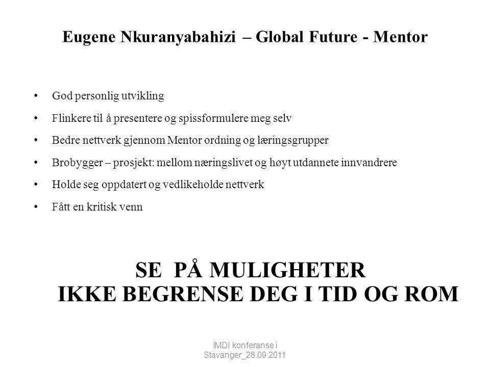 Eugene Nkuranyabahizi – Global Future - Mentor
