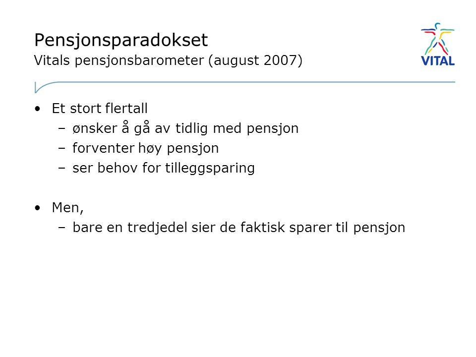 Pensjonsparadokset Vitals pensjonsbarometer (august 2007)