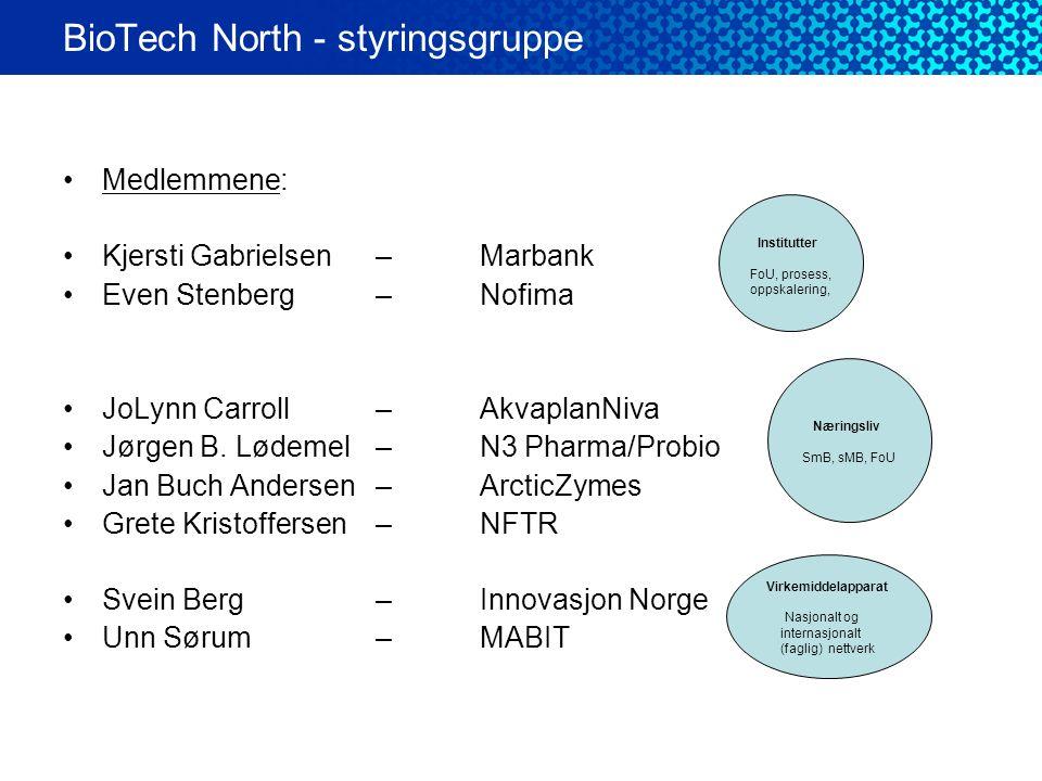 BioTech North - styringsgruppe