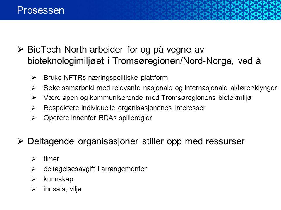 Prosessen BioTech North arbeider for og på vegne av bioteknologimiljøet i Tromsøregionen/Nord-Norge, ved å.