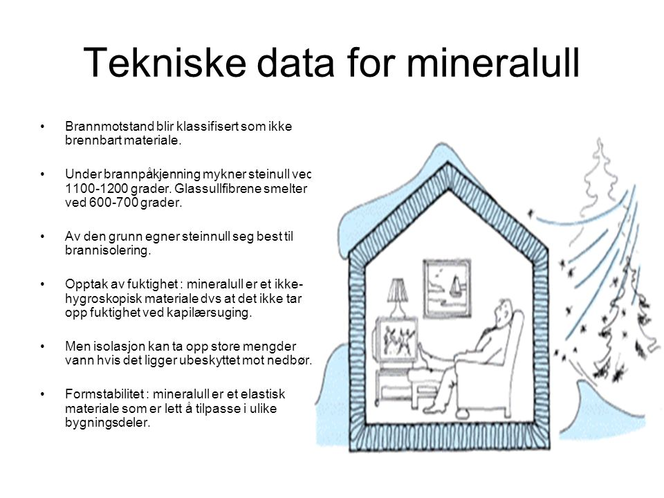 Tekniske data for mineralull